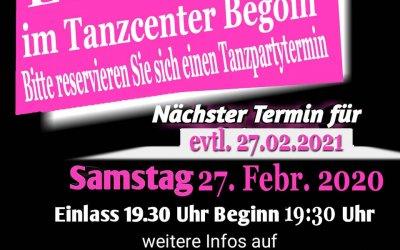 Tanzpartys alle 14 Tage im Tanzcenter Begoin in Pulheim
