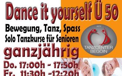 Tanzspass Ü 50 ohne Tanzpartner/in im Tanzcenter Begoin in Pulheim